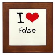 I Love False Framed Tile