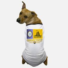 Connecticut Gadsden Flag Dog T-Shirt