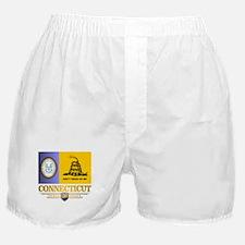 Connecticut Gadsden Flag Boxer Shorts