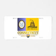 Connecticut Gadsden Flag Aluminum License Plate