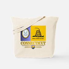 Connecticut Gadsden Flag Tote Bag