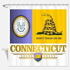 Connecticut Gadsden Flag Shower Curtain