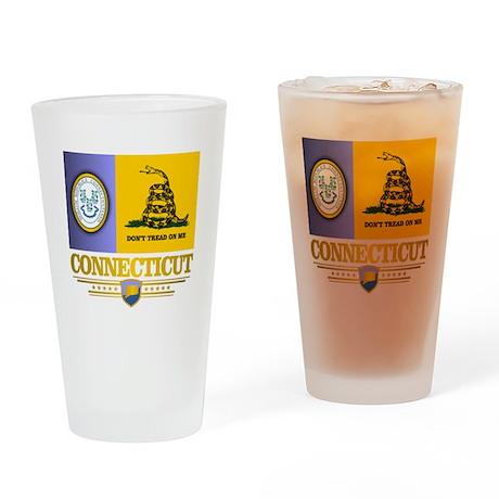 Connecticut Gadsden Flag Drinking Glass