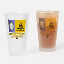 Connecticut Gadsden Flag Drinking Glass