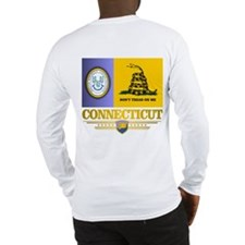 Connecticut Gadsden Flag Long Sleeve T-Shirt