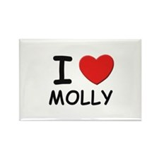 I love Molly Rectangle Magnet