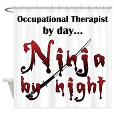 Occupational Therapist Ninja Shower Curtain