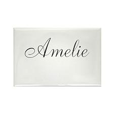 Amelie Black Script Personalized Rectangle Magnet
