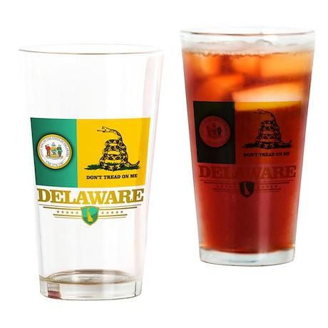 Delaware Gadsden Flag Drinking Glass