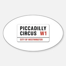 Piccadilly Circus, London - UK Oval Decal