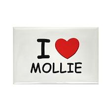 I love Mollie Rectangle Magnet