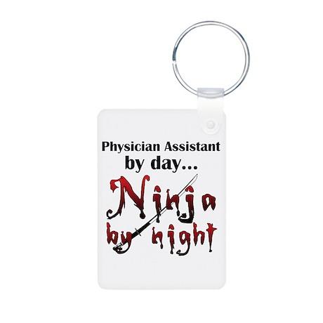 Physician Assistant Ninja Aluminum Photo Keychain