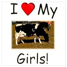 Love My Girls Wall Art Poster
