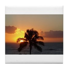 Paradise Palm Tree Tile Coaster