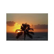Paradise Palm Tree Rectangle Magnet