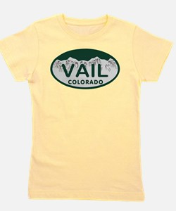Vail Colo License Plate Girl's Tee