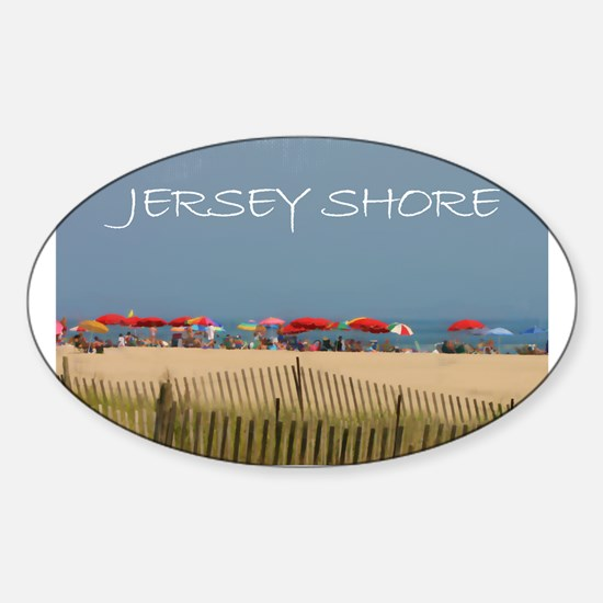 Jersey Shore Beach Umbrellas Decal