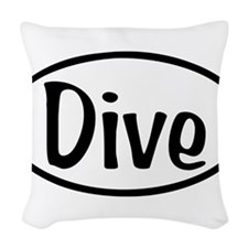 Dive Oval Woven Throw Pillow