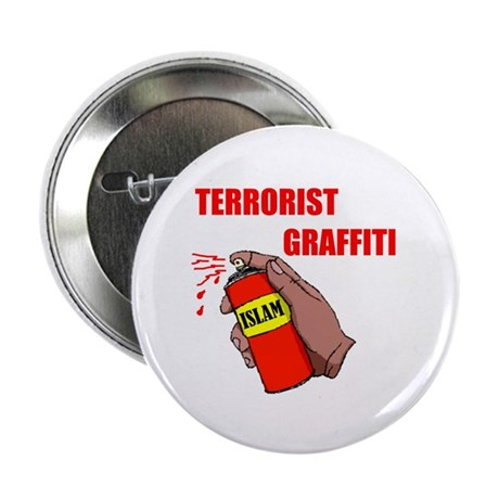 "TERRORIST GRAFITTI 2.25"" Button (100 pack)"