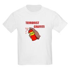 TERRORIST GRAFITTI Kids T-Shirt