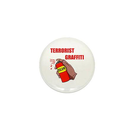 TERRORIST GRAFITTI Mini Button
