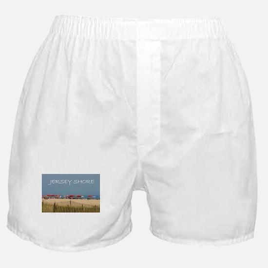 Jersey Shore Beach Umbrellas Boxer Shorts