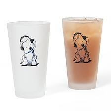 Call Center Westie Drinking Glass