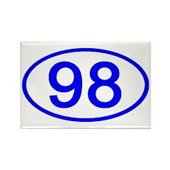 Number 98 Oval Rectangle Magnet (10 pack)