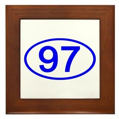 Number 97 Oval Framed Tile
