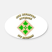 Army - Division - 4th Infantry Oval Car Magnet