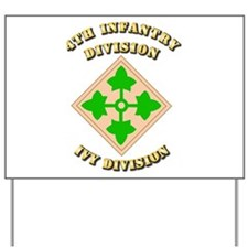 Army - Division - 4th Infantry Yard Sign