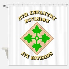 Army - Division - 4th Infantry Shower Curtain