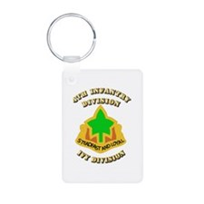 Army - Division - 4th Infantry Keychains