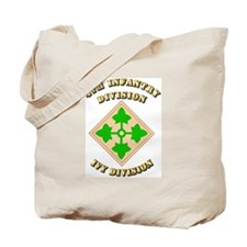 Army - Division - 4th Infantry Tote Bag