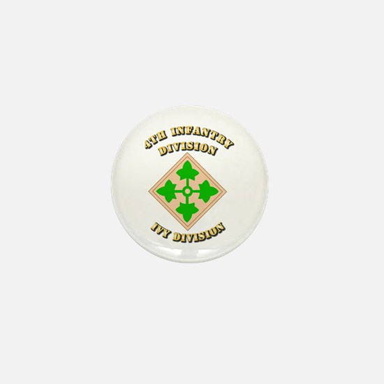 Army - Division - 4th Infantry Mini Button