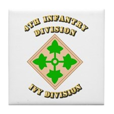 Army - Division - 4th Infantry Tile Coaster