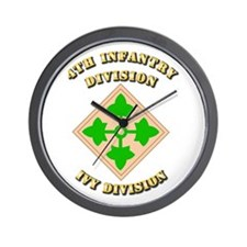 Army - Division - 4th Infantry Wall Clock