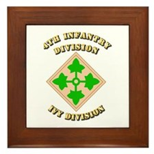 Army - Division - 4th Infantry Framed Tile