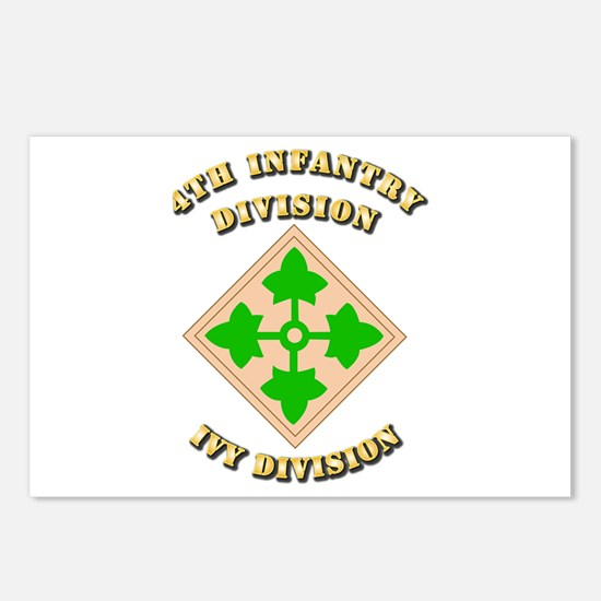 Army - Division - 4th Infantry Postcards (Package