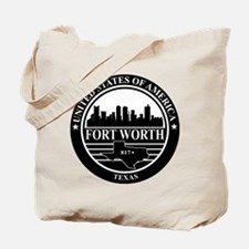 Fort worth logo black and white Tote Bag