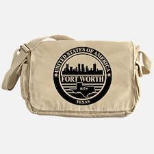 Fort worth logo black and white Messenger Bag