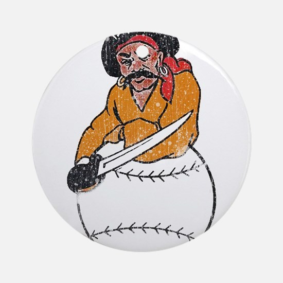 Throwback Pirates Ornament (Round)