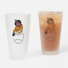 Throwback Pirates Drinking Glass