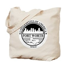 Fort worth logo white and black Tote Bag