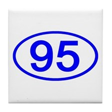 Number 95 Oval Tile Coaster