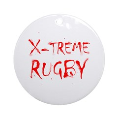X-treme Rugby Ornament (Round)