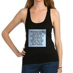 kennedy quote Racerback Tank Top