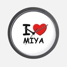 I love Miya Wall Clock