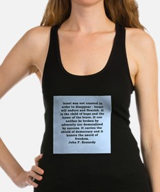 john f kennedy quote Racerback Tank Top
