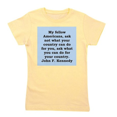 john f kennedy quote Girl's Tee